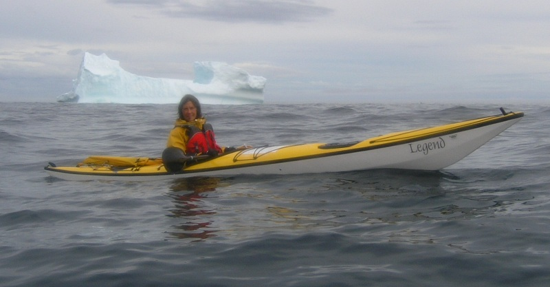 Kristin Nelson paddles Legend Sea Kayak down Labrador coast with Nigel Foster